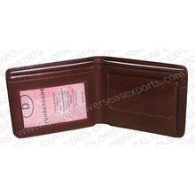 men genuine leather wallet made from vegetable tanned leather custom embossed in your brand or logos