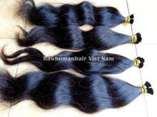 Perfect natural wavy remy hair in bulk high quality cheap wholesale price Vietnam hair, Cambodian hair, Brazilian hair