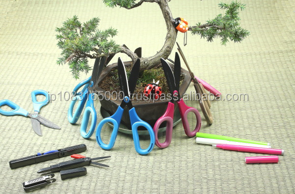 Reliable and Fashionable paper cutting Scissors with multiple functions made in Japan