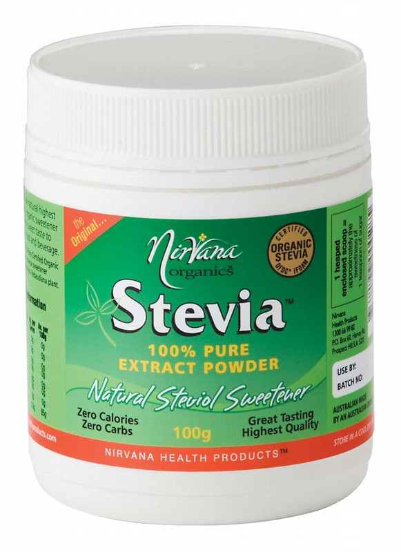 NIRVANA ORGANICS Stevia 100% Pure Extract Powder 100g