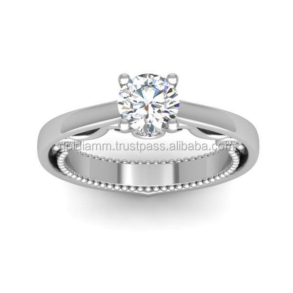 Wholesale handmade wedding ring, engagement ring with diamonds and special design made 14K yellow/white/rose gold or platinum