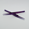Pro Comfort Ultra Fine 45 Degree Angle Curved Tip volume Tweezer In Purple Plasma Coating..