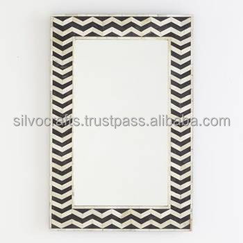 Indian & Moroccan Style Camel Bone Inlay Mirror Frame furniture (Bone & Mother of Pearl Inlay Furniture from India)r0