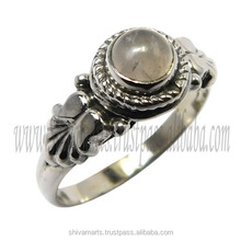 attractive jewelry for wedding 925 sterling silver rose quartz gemstone ring