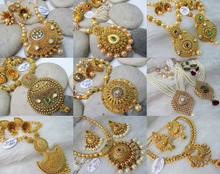 Indian kundan polki jewellery - Antique indian bridal jewellery - indian jewellery wholesale - Heavy Gold plated jewelry sets