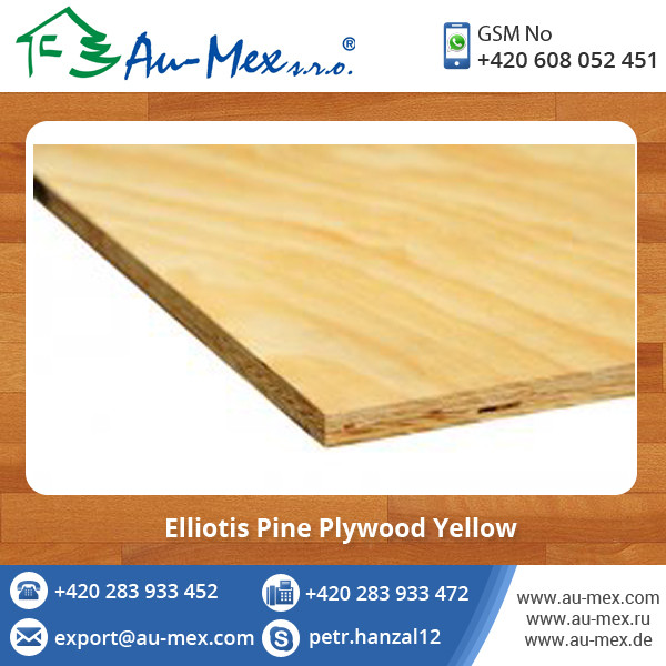 Professionally Manufactured Elliotis Pine Plywood Available at Market Rate