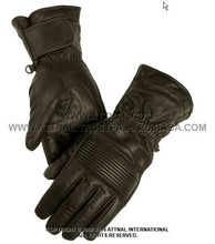 Men's/Women's heavy cowhide gauntlet with elasticized knuckle Motorbike Gloves