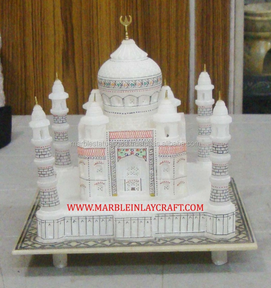 Lovely Handcrafted White Marble Taj Mahal Souvenir
