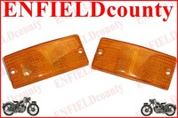 FRONT INDICATOR AMBER ORANGE LENS SET FOR VESPA PX PX80-200 PE LUSSO T5 LML