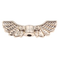 22x7x4mm Wing Zinc Alloy Jewelry Beads