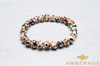 With Baltic Amber Adult bracelets- baroque