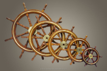 Brass Design Wooden ship wheel, Wall decor Ship wheel, Decorative Ship Wheel Set