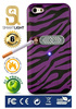 Purple Zebra case for iPhone 5/5S with ecological cigarette lighter