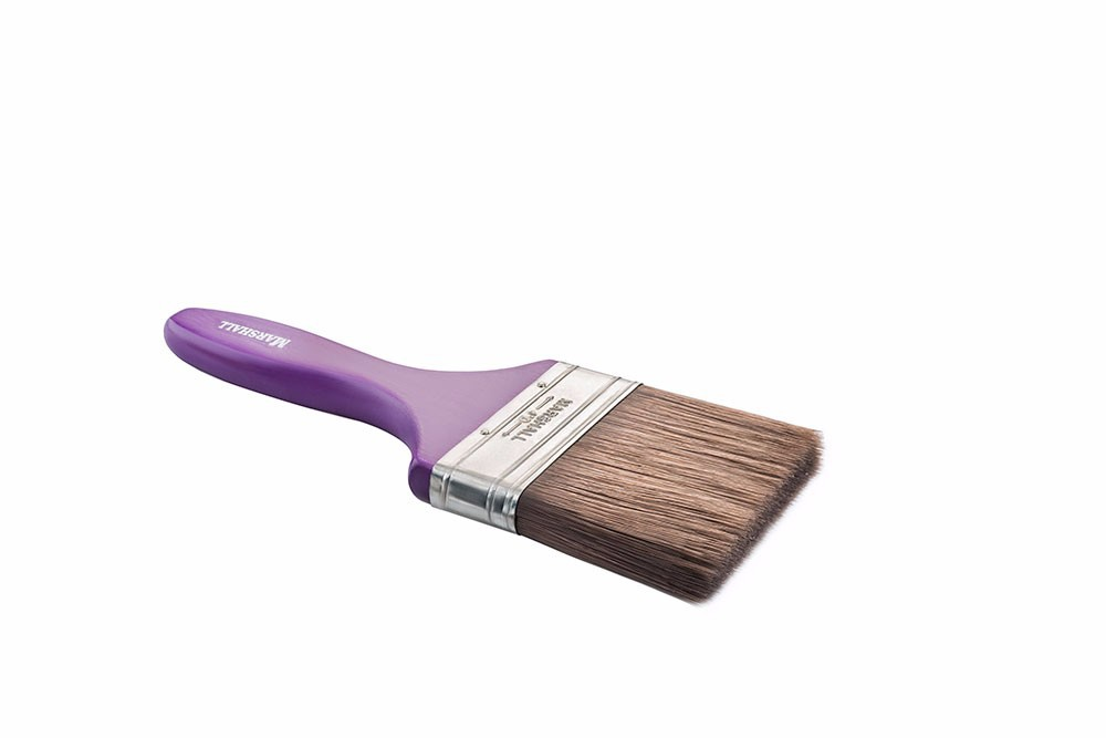 MARSHAL PAINT BRUSH, EXCELLENT VALUE, SYNTHETIC FILAMENT, WOODEN OR PLASTIC HANDLE, 2'' 3'' 4''