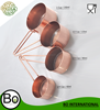 Stainless Steel Copper Plated Measuring Spoon Cup & Wire Handle Set Of 4