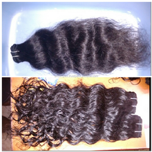wholesale price unprocessed 5A grade 100% virgin Indian temple human hair extension 100% remy human hair weft