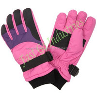 2015 New-Born Pink Beautiful And Fashion Ski Winter Mittens Gloves for