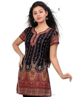 Indian Casual Crepe Printed Kurtis