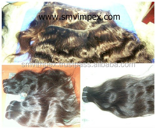 100% best quality shedding free indian hair weaving from india.100% Unprocess virgin indian remy human hair weaving temple india