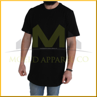 6color hiphop longline oversized t shirt 2016 men fashion tshirts long sleeve extended curved hem tee urban clothing
