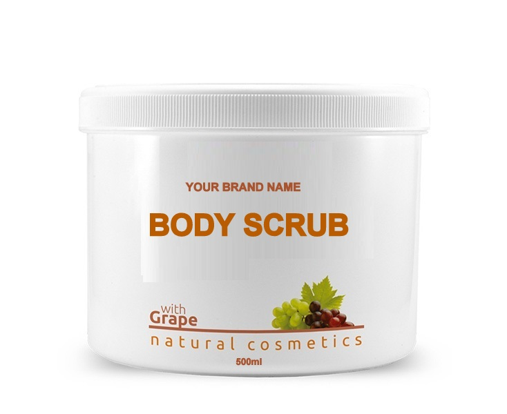 Grape Massage Cream - 500 ml. 100% Natural. Private Label Available. Made in EU