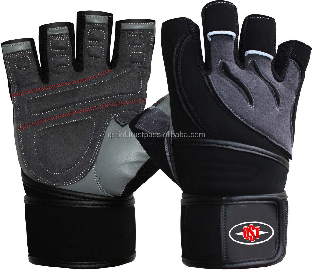 Leather Gym Workout Weight Lifting Gloves