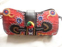Ethnic Design Embroidered Clutch Bags Old Pakistani Zardozi Work Fancy Bead Embroidery Manufacturer