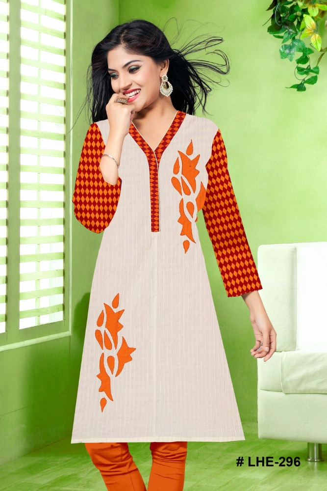 kurti designs for stitching / neck pattern pure cotton casual tunic kurits for girls