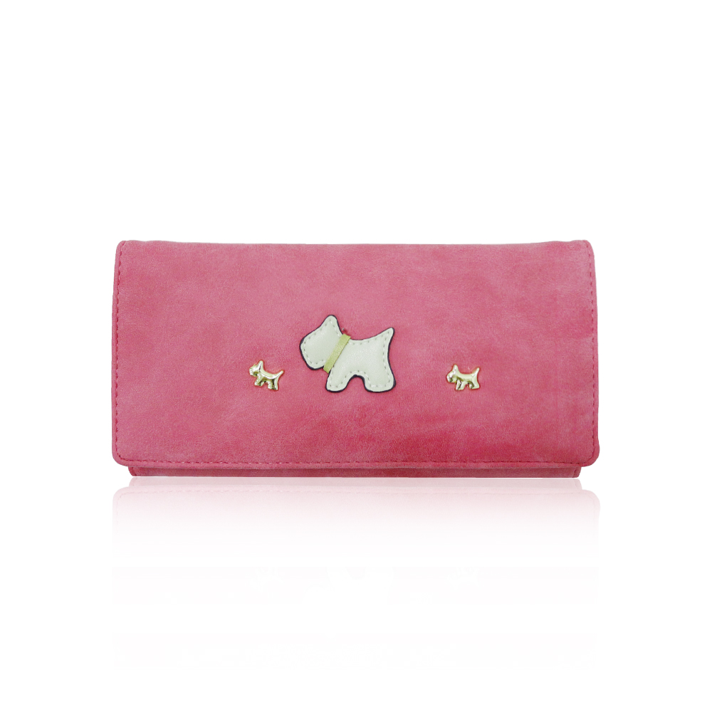 Women Wallet Front Little Westies Faux Smooth Design Wholesale Purse Long
