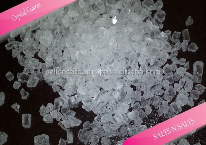 White Crystal granulate salt