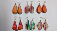 Different types of Wood Earrings light weight