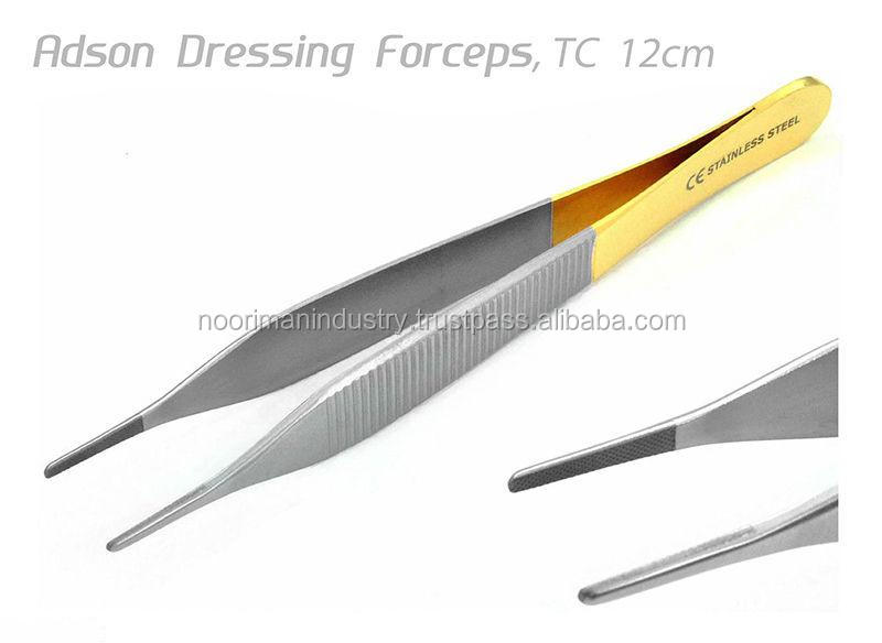 "TC ADSON DRESSING FORCEPS TWEEZERS SERRATED 12cm 5"" DENTAL Surgical Instruments / Dressing Forceps"