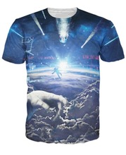 Earth Edge Design Great Sublimated printed t-shirt/OEM fashion Sublimation o neck t-shirt with 100% polyester/AT Noki