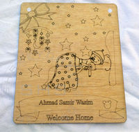 Laser Engarved Wooden Greeting Cards