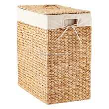 Rattan storage baskets with lids and handles, bamboo basket, seagrass basket used for storage and home decor handmade in Vietnam