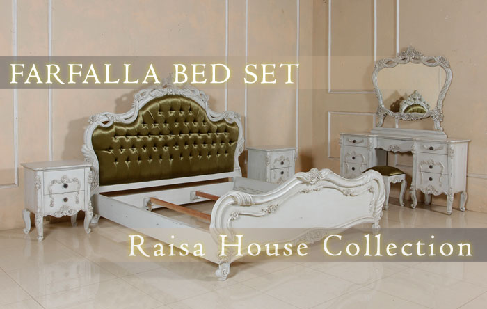 Indonesia french style furniture - Farfalla Bed Set