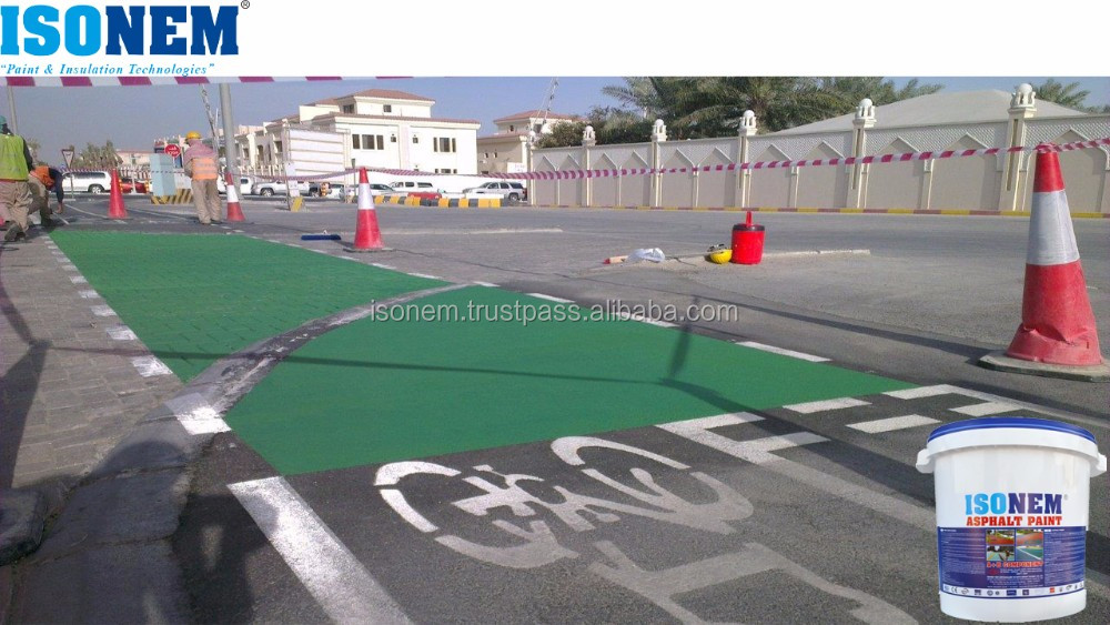 ISONEM DECORATIVE AND PROTECTIVE ASPHALT AND CONCRETE ROAD PAINT