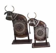 iron hand made decorative Cow Two Piece Set DELL COW ANTIQUE