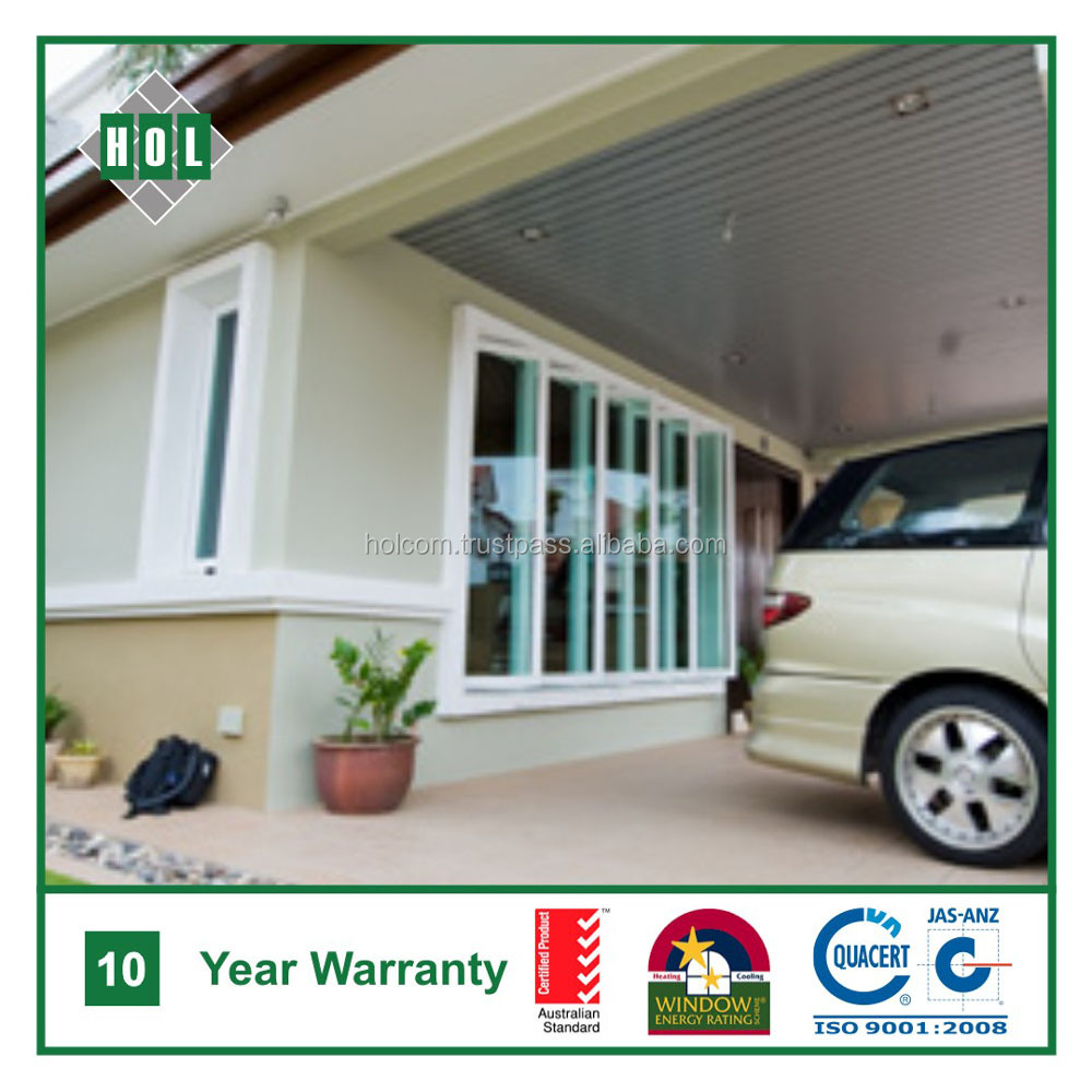 Multi sash side hung window, casement, clear glass, aluminum frame
