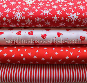 100% Cotton christmas Design Print Fabrics plain weave