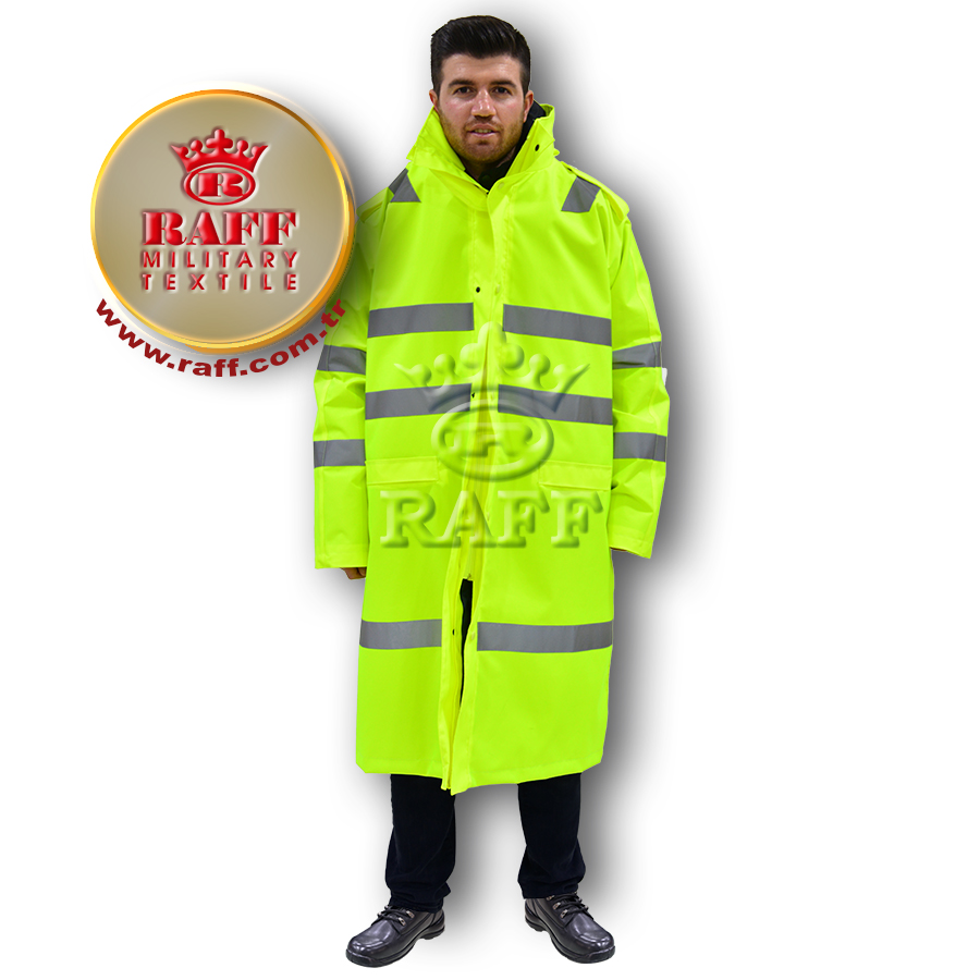 Multi-Language Sites Occupational Safety Officer Reflective Tapes Long Coat