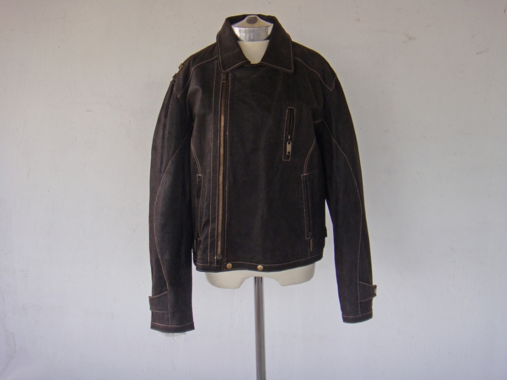 Giacca Uomo Man Leather Jacket - Pekari pelle 100% - Made in Italiy - Collo camicia -