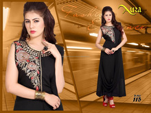 Fancy Dhoti Style Designer Embroidery Kurtis/latest kurti designs/kurti and kurta/