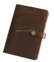 New PU Leather Cover Blank Mini daily Notebook pocket diary notes stationery office school supplies