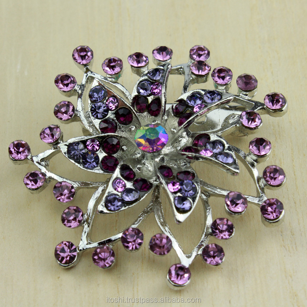 South East Asia design rhinestone brooch kerongsang for Muslim hijab tudung for Indonesia, Malaysia, Brunei