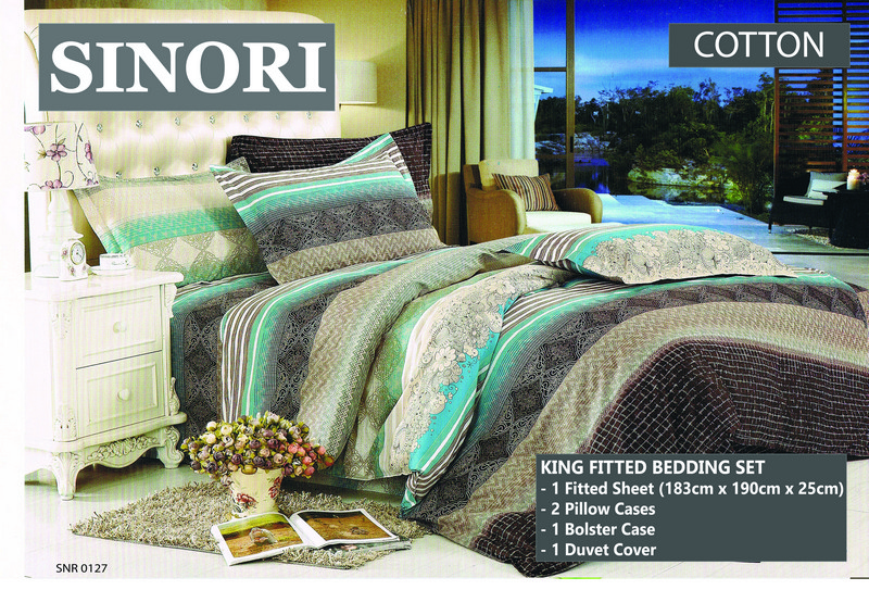 Sinori King Fitted Bedding Set