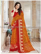 Paramount Mustard Chiffon Saree/online indian saree shopping