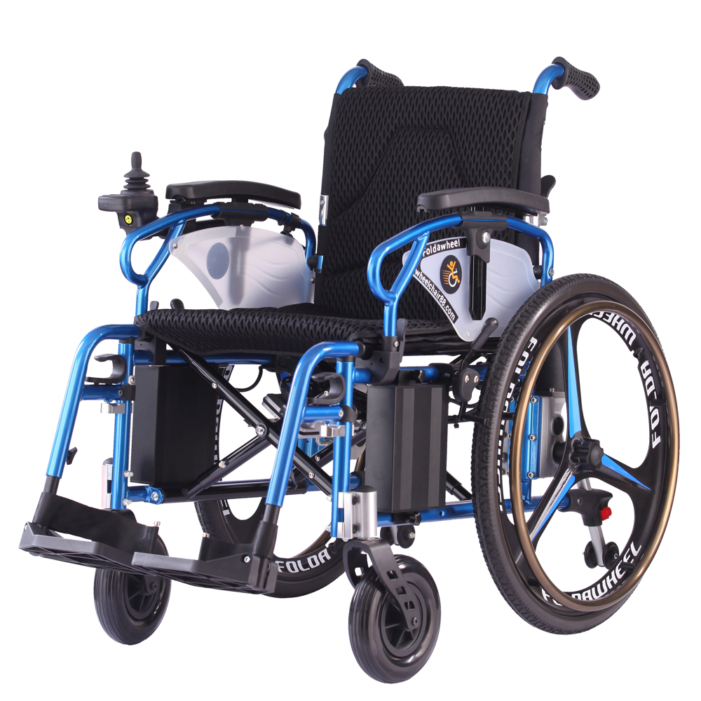 Wheelchair88 . PW-800AX . Lightweight Duo Function Foldable Power Wheelchair (Polymer Li-ion Battery)