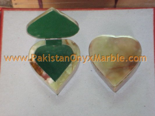 custom design ONYX JEWELRY HEART SHAPE BOXES