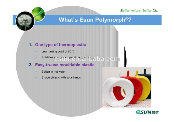 ESUN Non-toxic polymorph pcl plastic for dental model